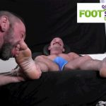 Foot-Hound-Marky-Sparks-Foot-Worship-Cum-Free-Gay-Porn-12-150x150 Muscle Stud Gets His Feet Worshiped And Drops A Load