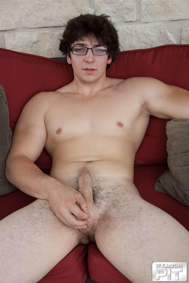 Bulldog-Pit-Clark-Naked-College-Muscle-Guy-Jerk-Off-16 Naked Jewish Muscular College Boy Caught Jerking Off Outside!